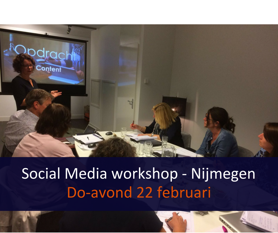 Social Media workshop - Nijmegen Do-avond 22 februari