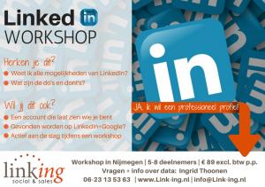 Workshop LinkedIn Nijmegen www.link-ing.nl